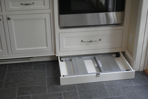 Furniture kitchen gray white drawer
