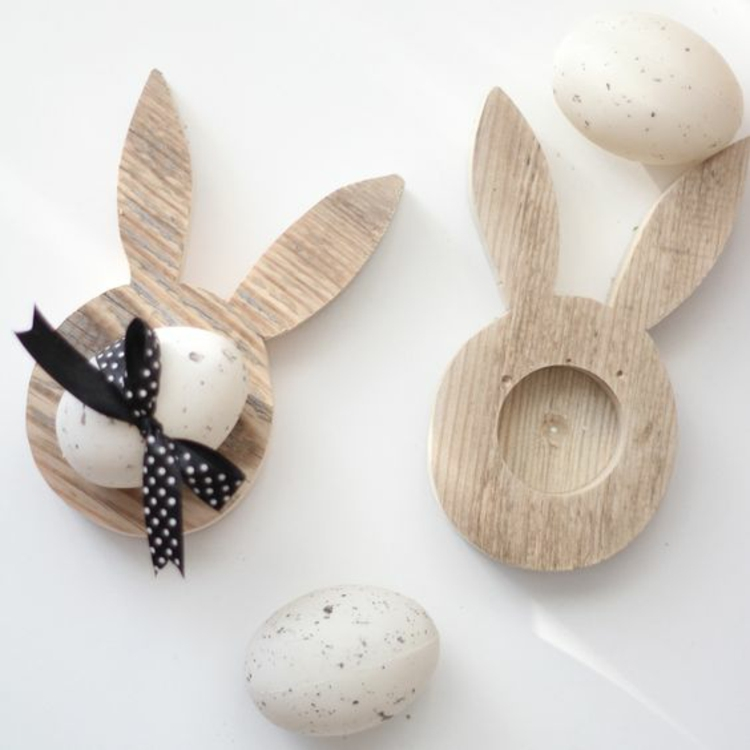 Wooden Easter decoration Deco products Easter decoration Ideas Egg hanger Rabbit Wood