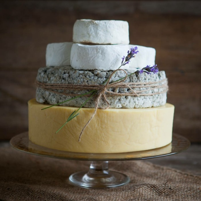 cheese loaf as a wedding cake