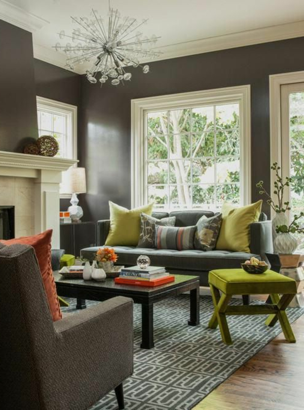 walls stain colors living room interior
