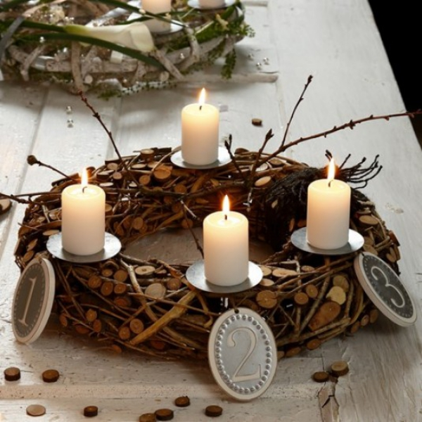 idea diy advent wreath ready