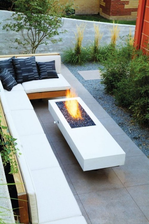 Tips and concept terrace fireplace