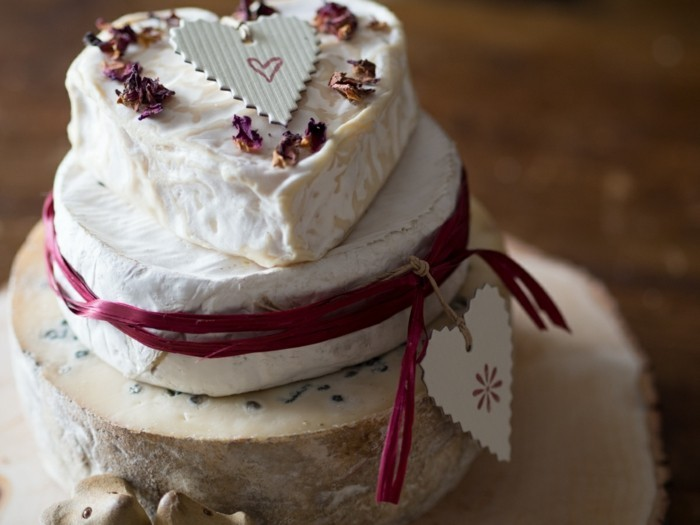 Decorate wedding cake with rose blossom