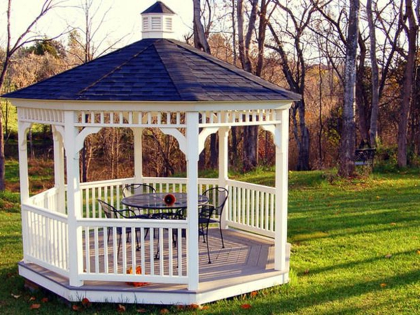 garden gazebo wood white black