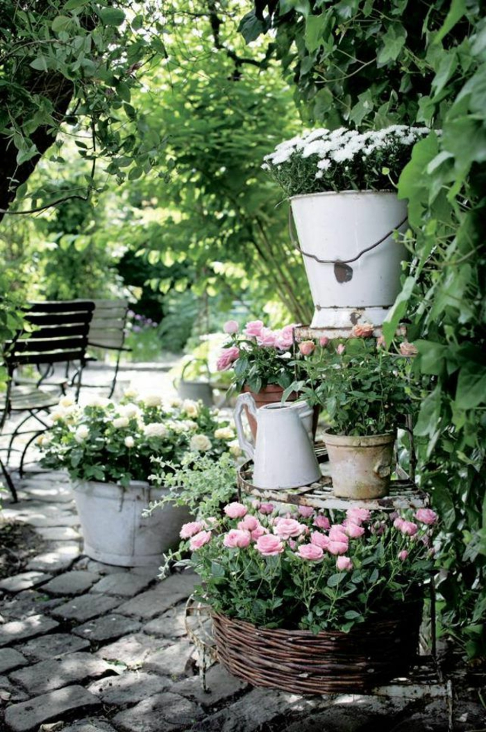 garden ideas beautiful garden deco vintage style flowers