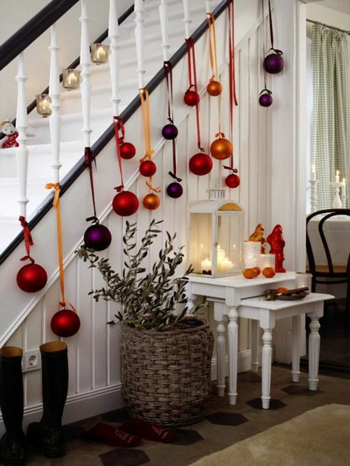 christmas craft ideas deco ideas christmas hallway stairs