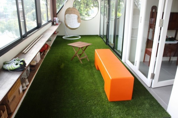 Artificial lawn mat balcony ideas