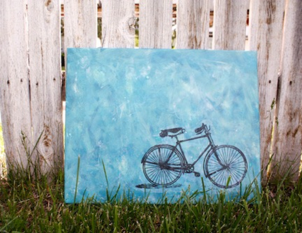 Create your own canvas pictures diy bike