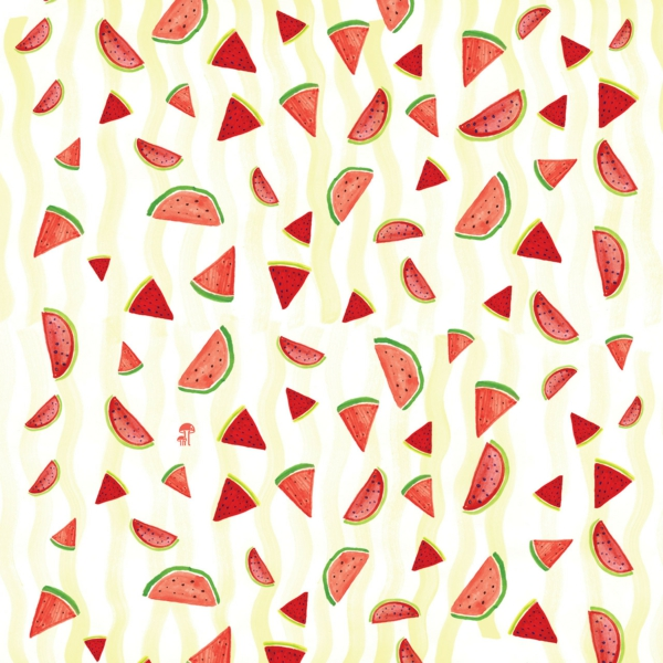 beautiful wallpaper pattern watermelons pattern wall decoration