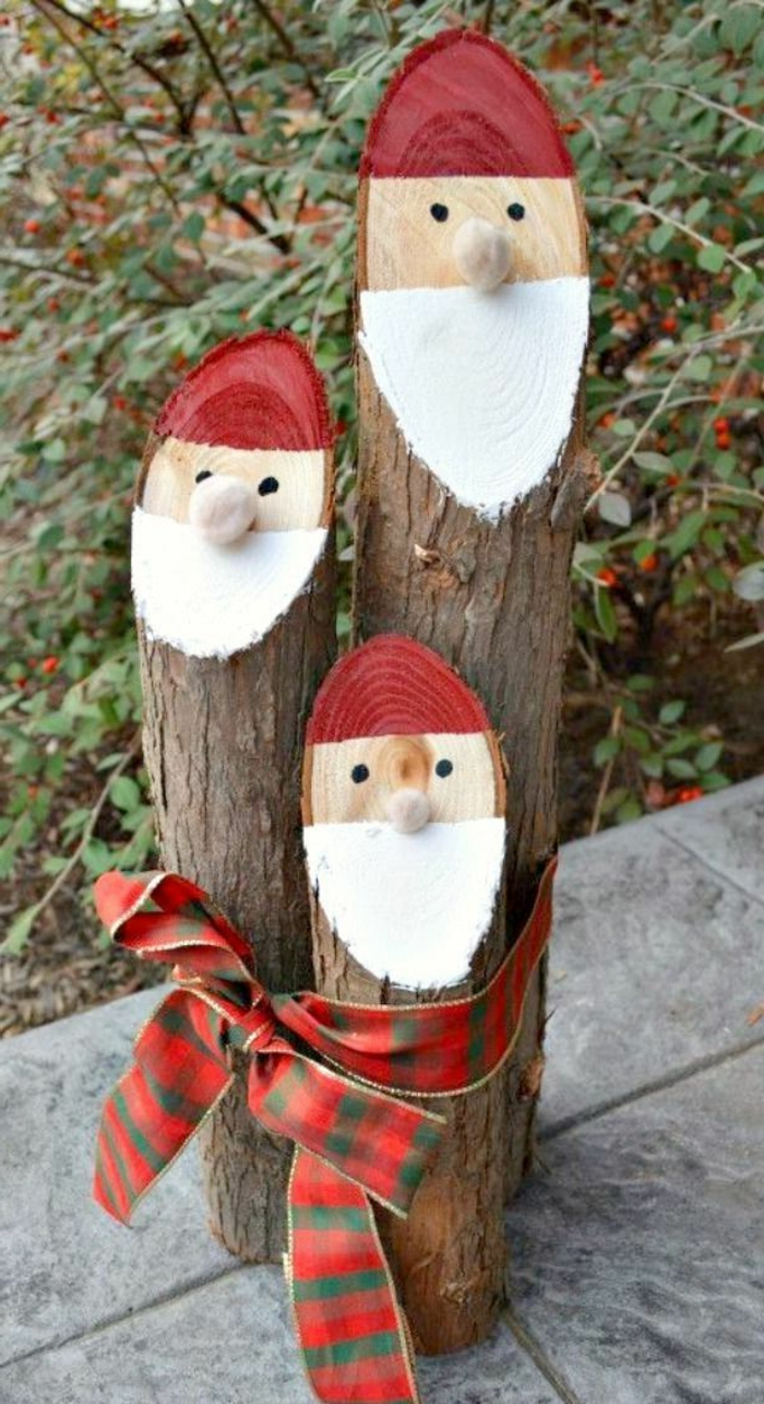 deco ideas christmas crafting santa claus wood