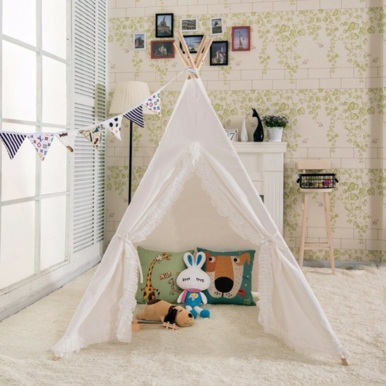 tipi tent for the children's room as a play tent tipi tent build yourself