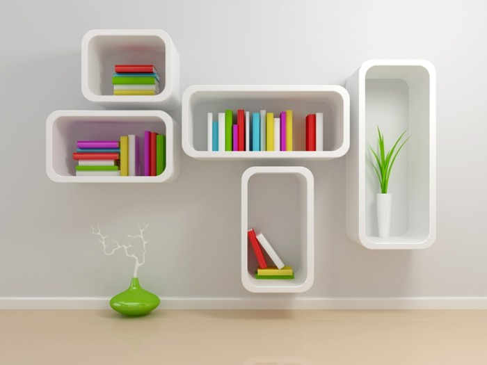Interior design bookshelf decoration