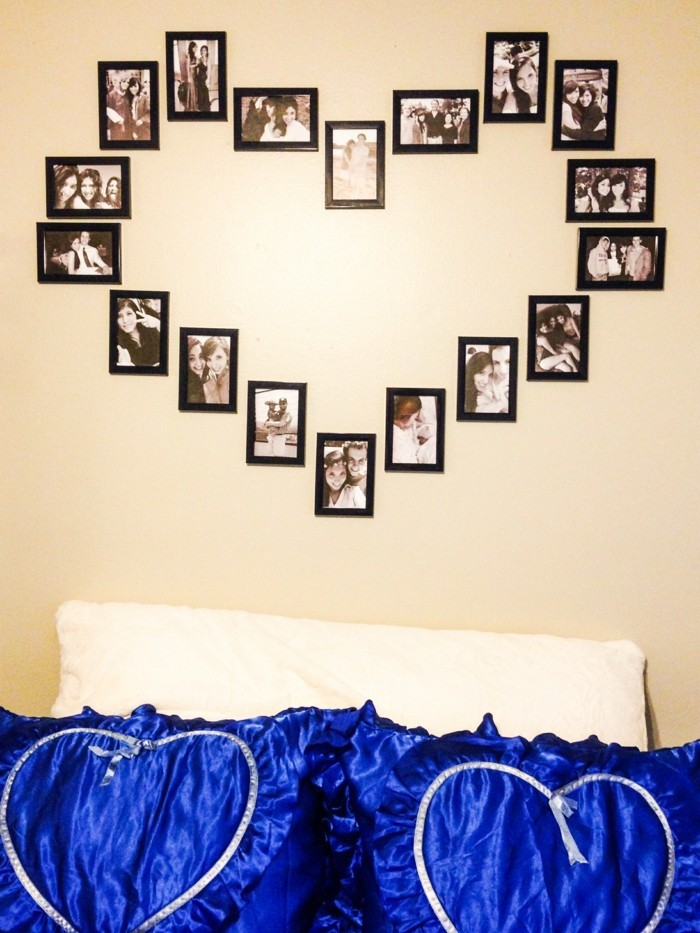 all the best for valentines day photo wall heart photos bedroom wall decoration
