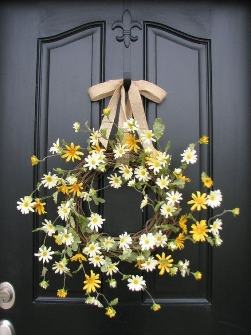 Daisies white tinker door wreaths