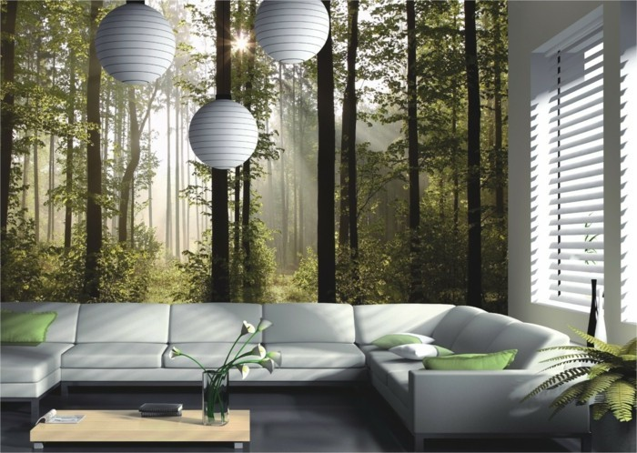 Forest motif 3d wallpaper