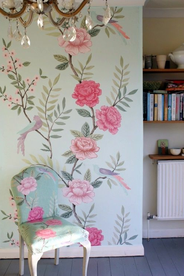 wallpaper floral design wall design ideas