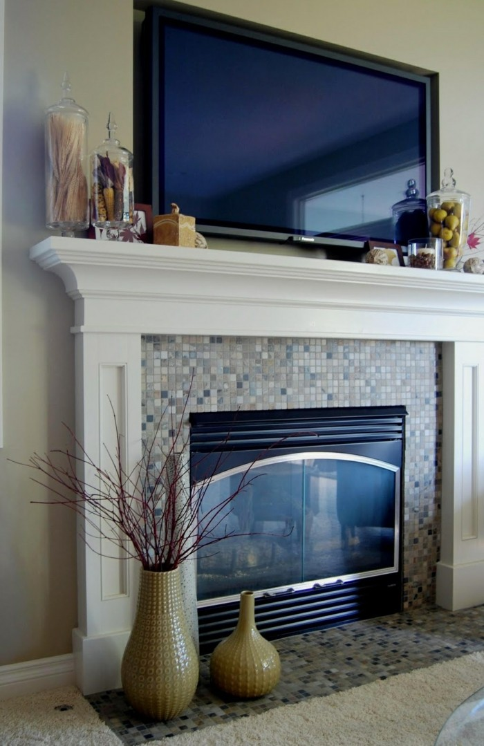 Fireplace Decoration For A Stylish Room Appearance