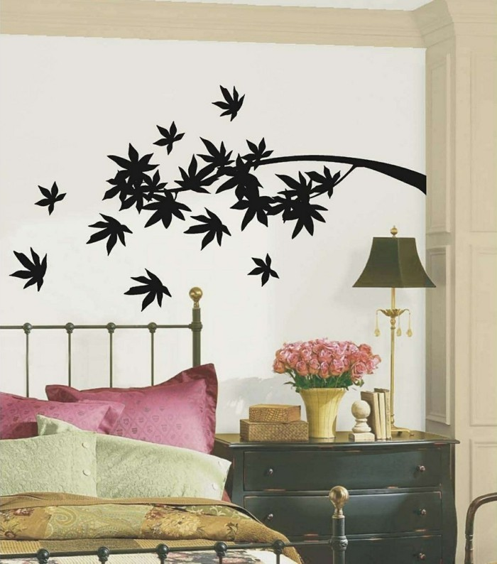 walls decorate bedroom deco wall decals leaves