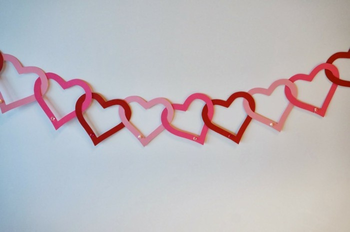 valentines day ideas diy deco garland hearts