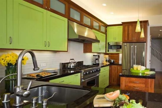 color ideas for kitchen green light green fresh kitchen cabinets