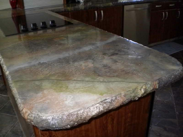 worktop concrete look furniture in the kitchen