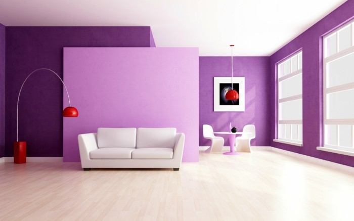 Residential Colors Wall Colors Trends Interior Design Color Bright Purple Apartment