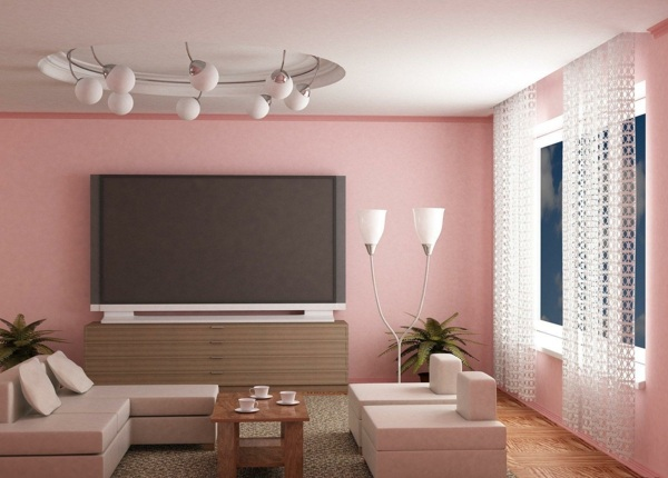 room wall colors pink living room ideas
