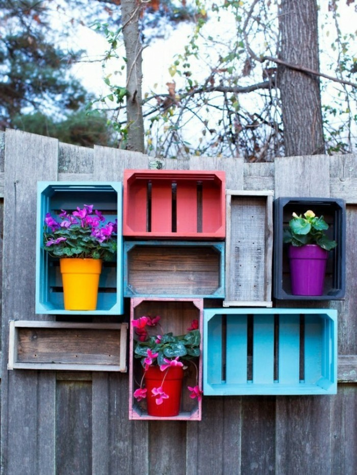 Decorating ideas for more storage space in the garden