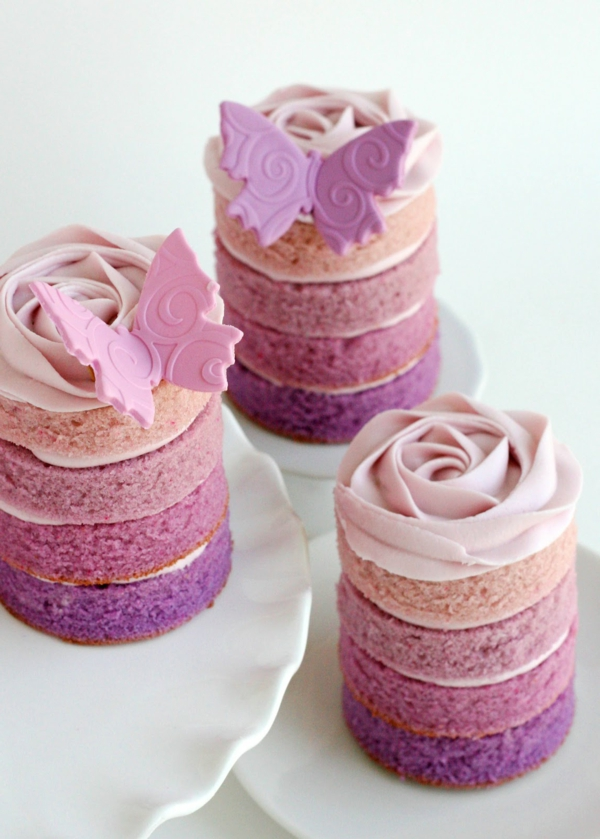 fancy cake layers butterflies rosanuancen