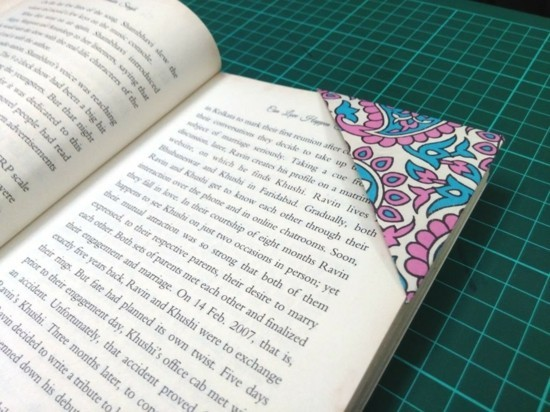 bookmark tinkering with botanical ornaments