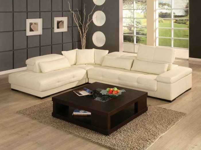 brown leather sofa in scene 17