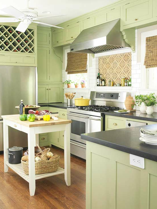 color ideas for kitchen green fresh wood cabinets extractor fan