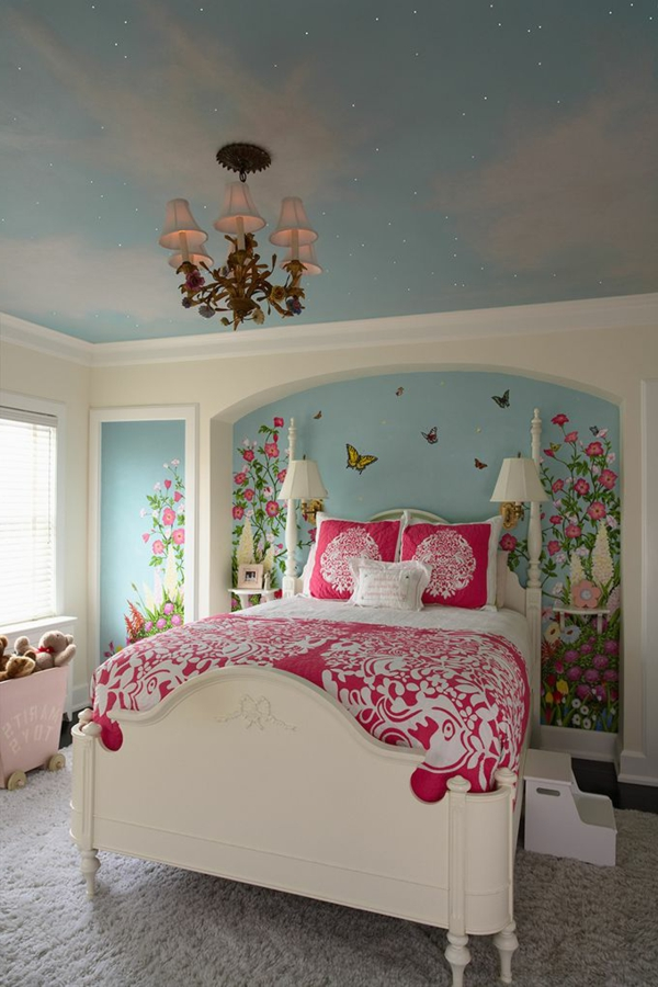 girl room wall decoration wall painting great blanket