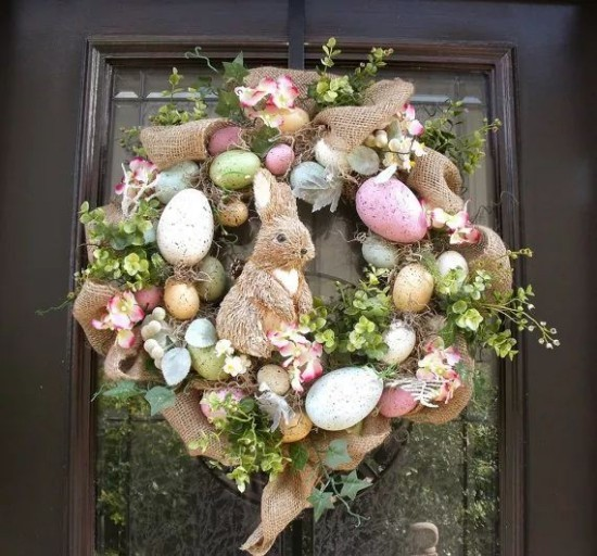 Easter decoration for outside front door
