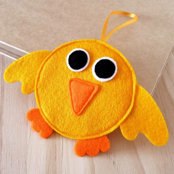 Easter decoration sew likeable yellow bird