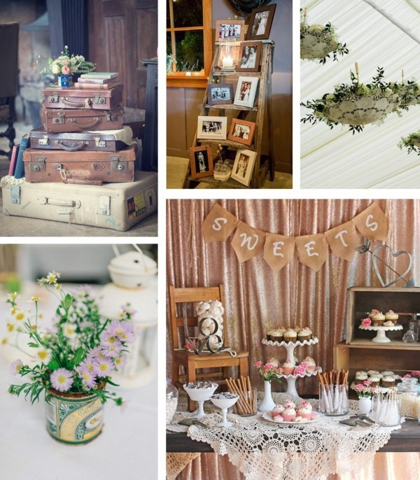 shabby chic wedding deco wedding trends 2018