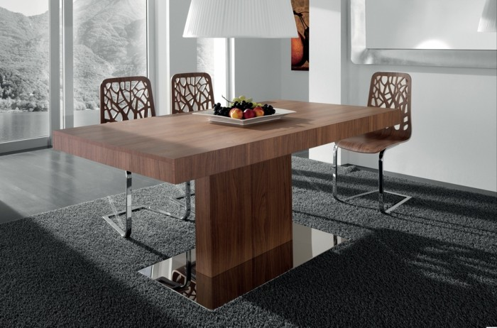 Interior Design Dining Table Solid Wood