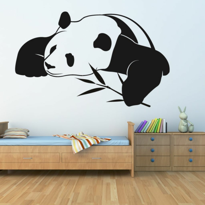 wall decals panda cute nursery wall design ideas
