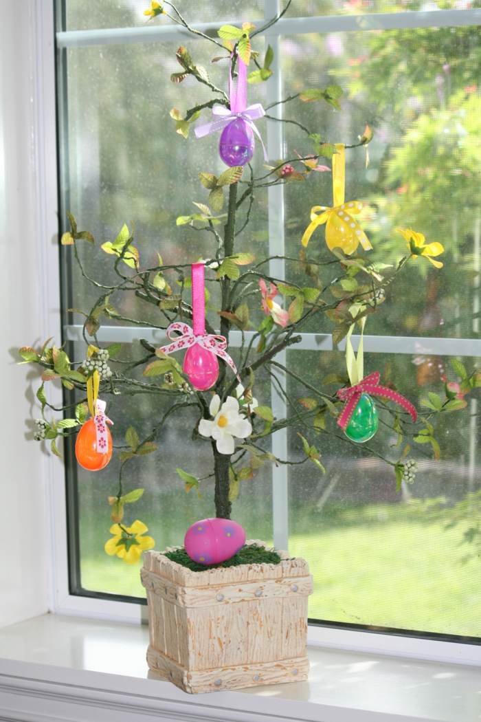 decorating easter decor decorate colored easter eggs window decor