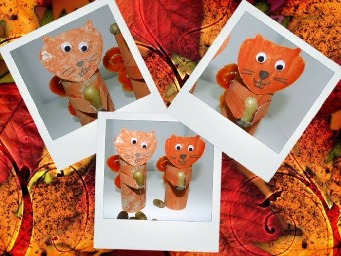 making autumn with children make autumn decoration yourself with paper rolls