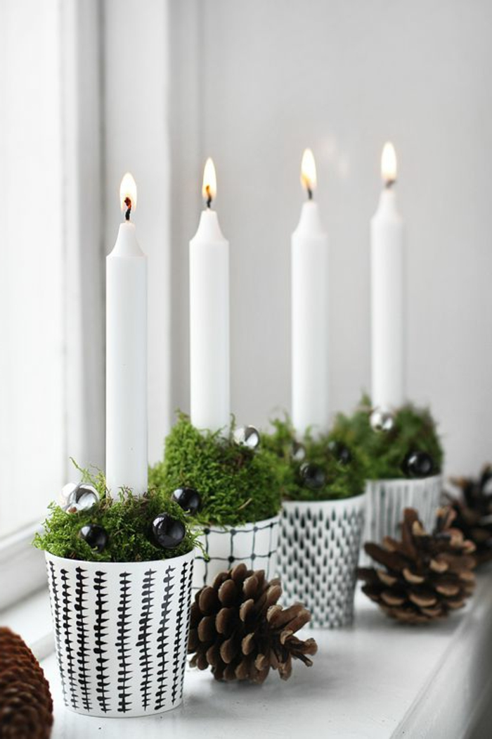 christmas craft candles acorns deco ideas christmas
