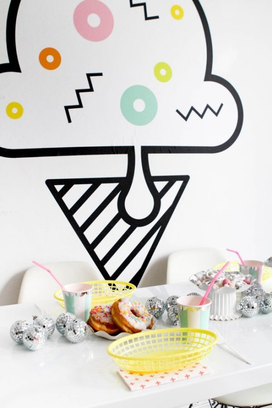 wall deco ideas party decoration ice wall decal