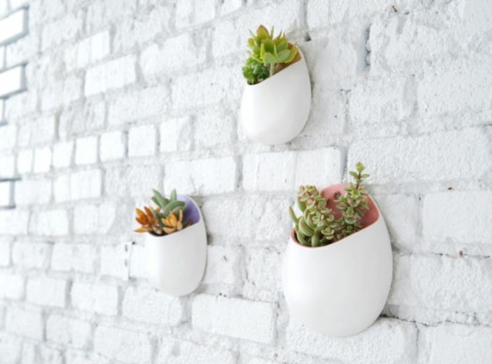 wall flower pot optimal and space saving design