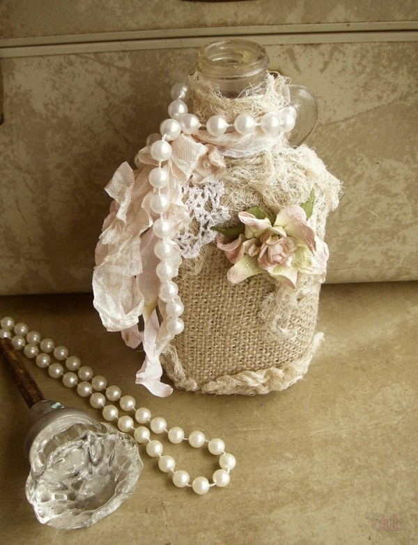 bottle decorate shabby chic decor yourself