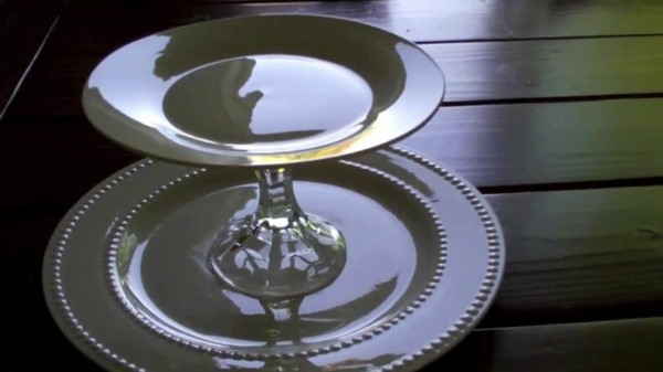 Build glass plate cake stand yourself