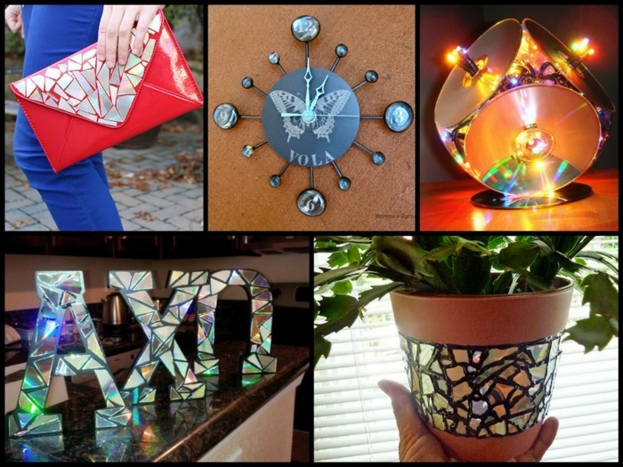 recycling craft with cds upcycling ideas deco ideas