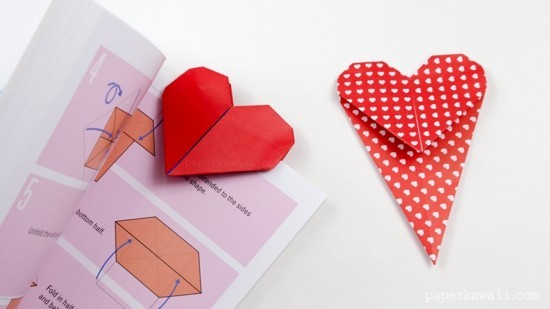 tinker red heart bookmarks