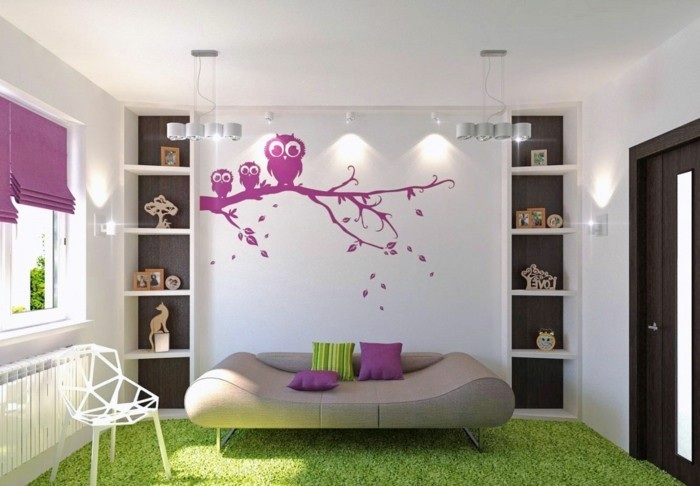 walls decorate purple wall decal