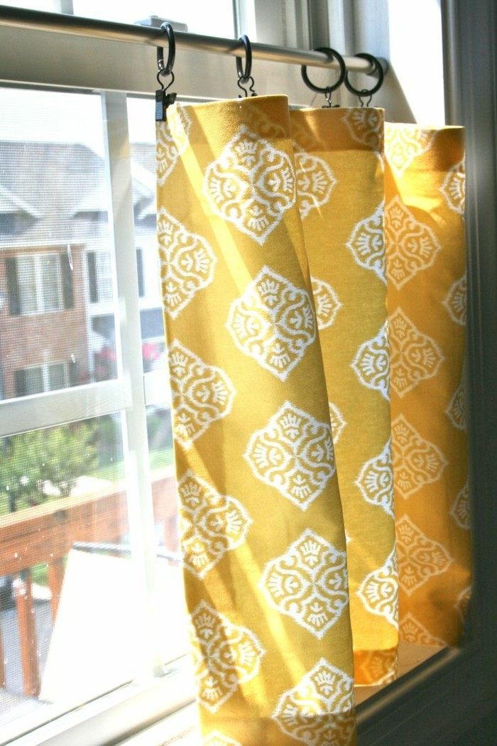 vision protection short curtains in fresh colors for small windows