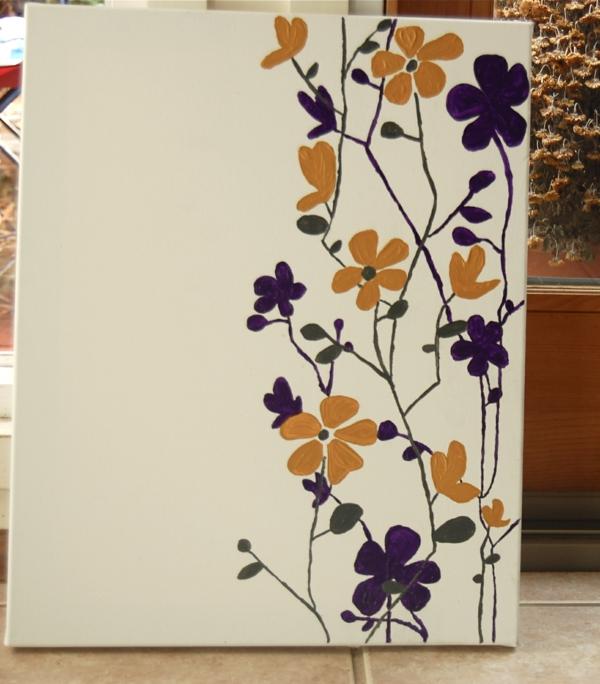 diy modern canvas pictures flowers